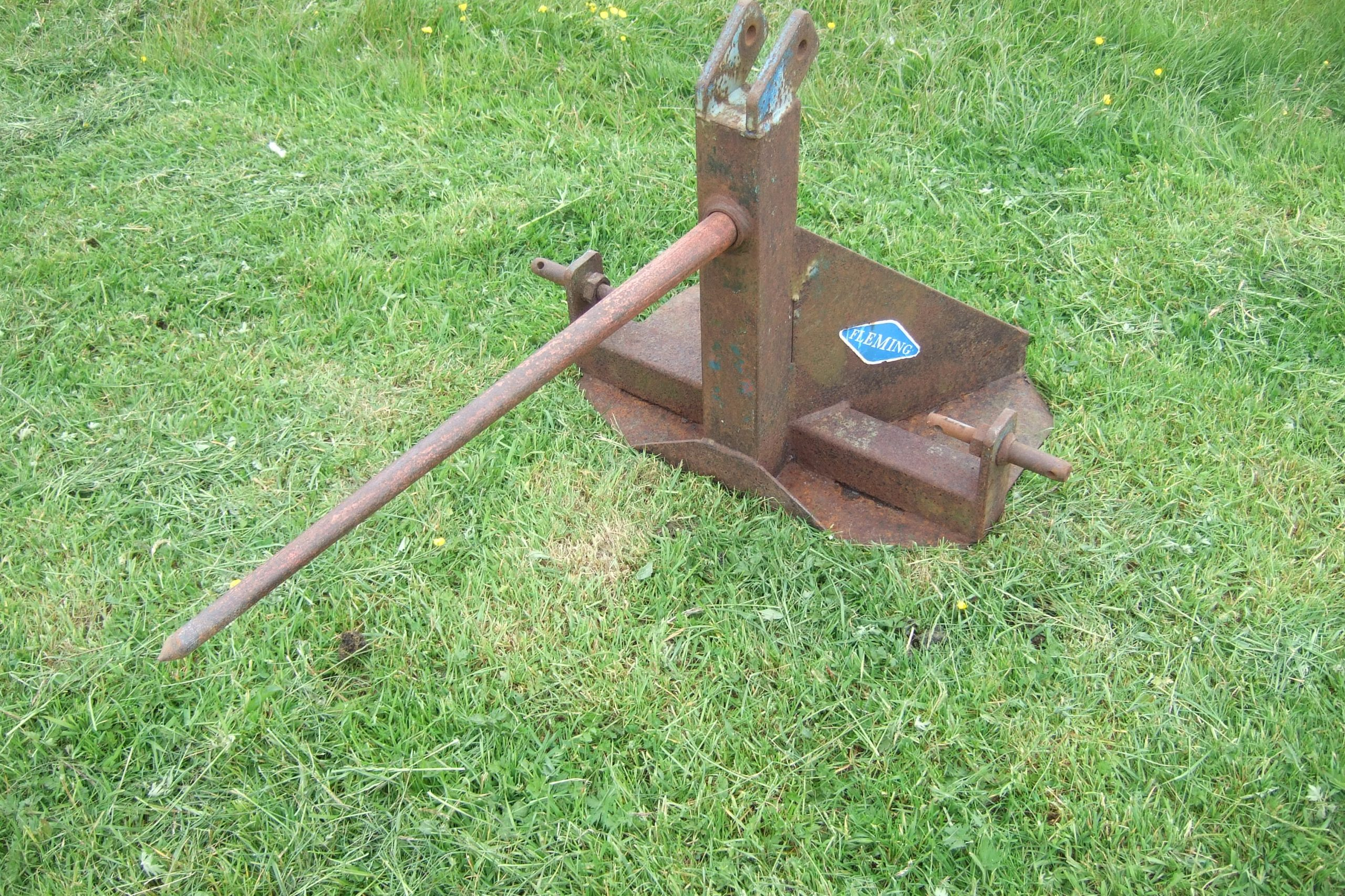 Heavy Equipment, Parts & Attachments Bale Spike 3 Point Linkage Making Things Convenient For The People Heavy Equipment Attachments